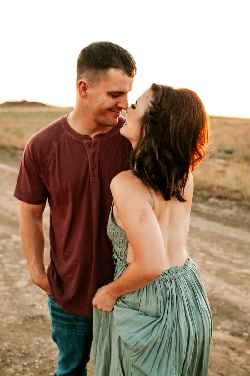Salt Lake City Birth and Family Photography, couple about to kiss